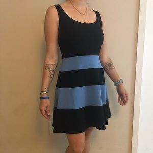 Business casual striped dress